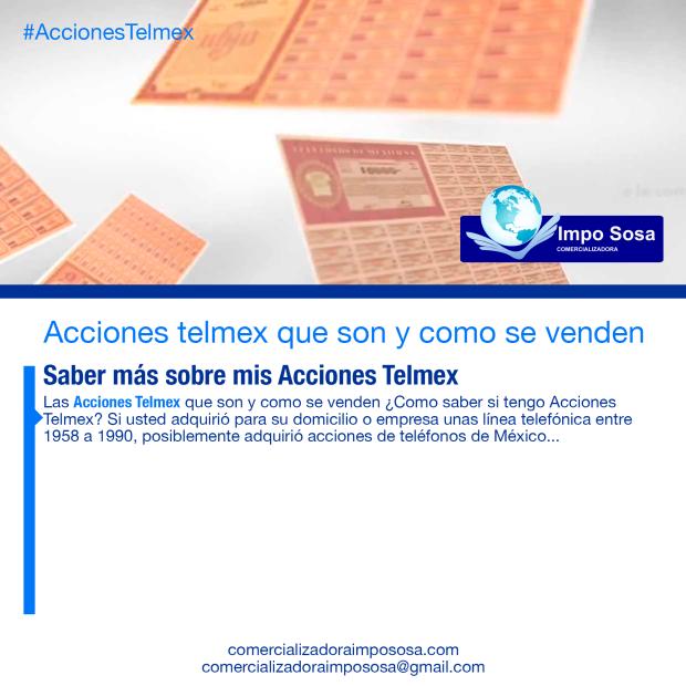 Saber más sobre las acciones de telmex