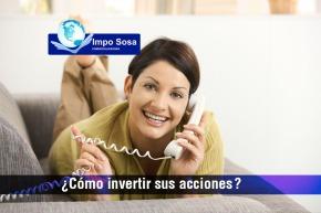 Venta o compra de acciones telefonícas de México