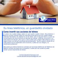 Valor de las acciones teléfonicas de telmex